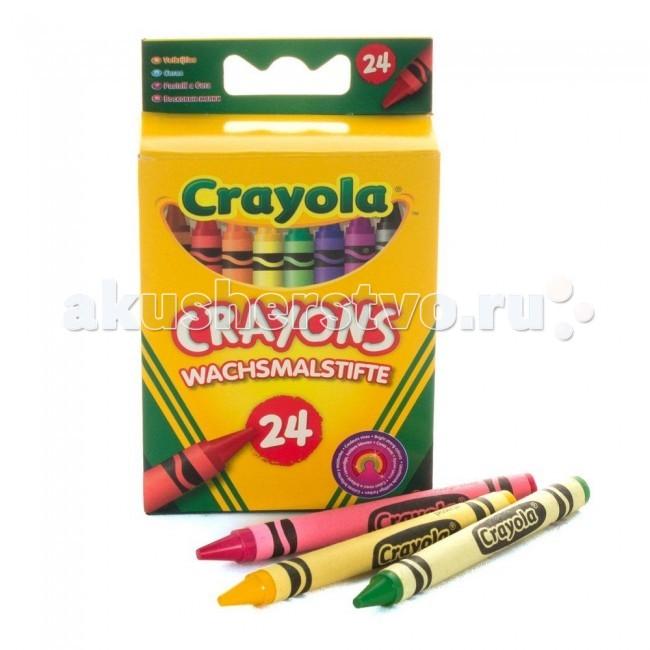 Crayola восковые 24 цвета