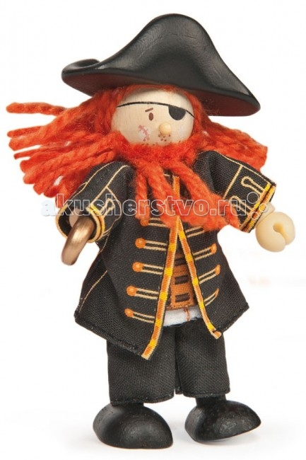 LeToyVan Кукла Пиратский капитанКукла Пиратский капитанLeToyVan Пиратский капитан.  Миниатюрные дизайнерские куколки, более 80 самых разных человечков с индивидуальным характером исполнения.  Королевская семья, волшебники и феи; отважные рыцари и морские пираты, фигурки-профессии футболисты, повар, уборщица, официантка, британский гвардеец и другие; персонажи из истории, фантазийные герои и герои сказок; ангелы, танцовщицы и много других. Смотреть всех героев Budkins.  В куклы можно играть сочетая с игровыми наборами Le Toy Van; размер кукол, форма и дизайн специально разработаны, например: набор кукол Пожарные + Пожарная машина и игровой набор Пожарная станция набор кукол Строители + игровой набор Дорожная техника куклы сказочных героев + кукольный замок куклы-пираты + пиратский корабль куклы-рыцари + замок для мальчика с аксессуарами. Для взрослого человека сувенирная куколка может стать подарком к празднику или встрече. приятный и радостный подарок на 8 Марта или 23 февраля нетрадиционный подарок на день рождение как знак внимания подарок на Новый год волшебных героев из сказок тематический сувенир для профессиональной деятельности пожарные, строители, врачи, учителя, футболисты, охранники Куклу Budkins приятно получить в подарок на любой праздник. Оригинально, очень красиво, вызывает только приятные эмоции и радостное настроение.<br>