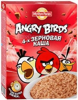 Myllyn Paras Безмолочная Angry Birds Каша 4 зерновая 300 г
