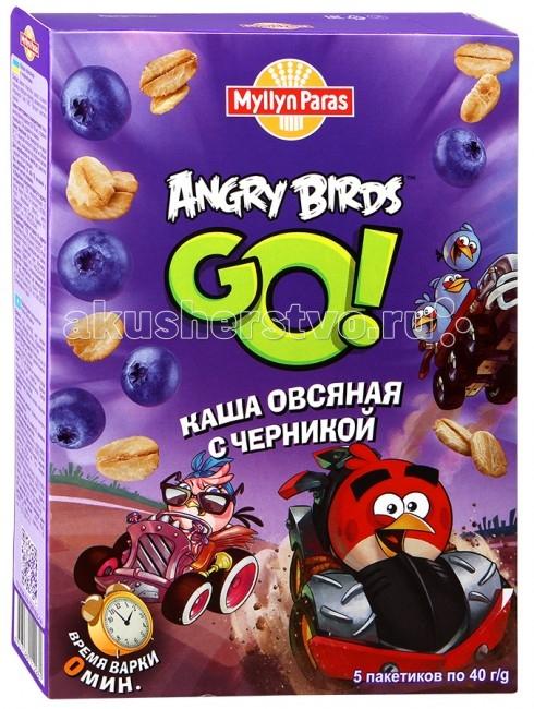 Myllyn Paras Безмолочная Angry Birds Каша овсяная с черникой 200 г