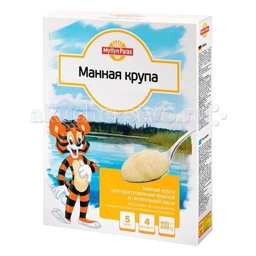 Myllyn Paras Безмолочная Манная крупа 600 гБезмолочная Манная крупа 600 гКрупа Myllyn Paras манная изготовлена из отборных зерен пшеницы. Манная крупа используется для приготовления каш, сладких блюд и выпечки. Она содержит различные минеральные вещества (калий, железо, натрий, фосфор, кальций, магний), витамины (РР, В1, В2) и белок.   В свою очередь она практически не содержит клетчатки, а 2/3-ти её состава приходится на крахмал (именно он способствует её быстрому приготовлению и высокой питательной ценности). Основные же составляющие, в которых заключается польза манки, – это углеводы и клейковина (глютен).  Состав: манная крупа. Продукт содержит глютен.  Не содержится генетически модифицированных организмов. Энергетическая ценность на 100 г продукта: 348 ккал. Пищевая ценность на 100 г продукта: углеводы - 69.0 г, белки - 12.0 г, жиры - 2.0 г.<br>