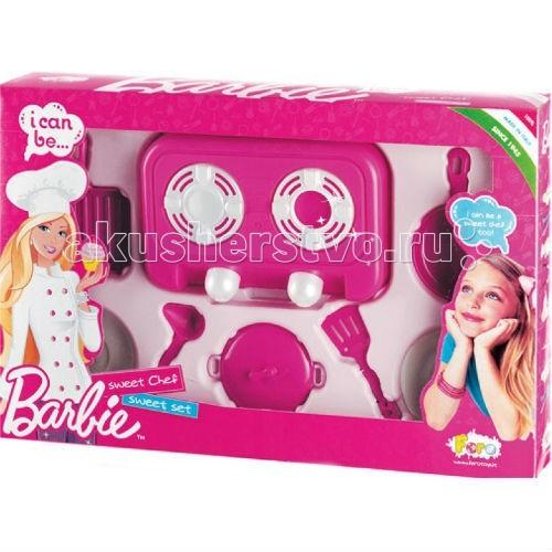 Faro Barbie Набор для кухни с плитой 50 смBarbie Набор для кухни с плитой 50 смFaro Barbie Набор для кухни с плитой 50 см - набор для кухни с плитой (50 см) будет отличным подарком для маленькой хозяйки. Ведь какая девочка не мечтает иметь свою собственную плиту, чтобы можно было готовить картошку с мясом на обед или кашу на ужин для кукол?   В этом наборе из 7 предметов вы найдете плиту на две конфорки. Она послужит хорошим дополнением к уже имеющейся у вас кухне Faro, либо ее можно использовать независимо. А вместе с ней в комплекте поставляются различные аксессуары, которым так же найдется применение на любой кухне.<br>