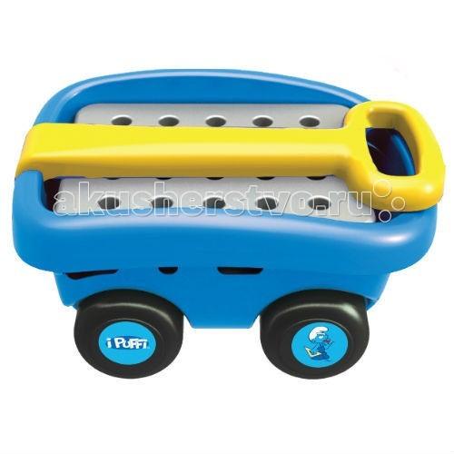 Faro Тележка Смурфика с инструментами The SmurfsТележка Смурфика с инструментами The SmurfsFaro Тележка Смурфика с инструментами The Smurfs для вашего малыша – яркая синяя тележка, дизайн которой разработан на основе любимого мультфильма про Смурфиков! Держа тележку за удобную ручку, можно легко катать ее по улице или по квартире, перемещая с место на место набор инструментов для самого настоящего мастера на все руки. Ведь так хочется быть похожим на папу и уметь все делать! Чинить кран, забивать гвозди, ввинчивать гайки и умело работать отверткой. Все эти инструменты вы найдете в наборе, они легко и просто умещаются в тележке на четырех устойчивых колесах.   Игра сделана из экологически чистых крепких материалов, детали не выгорают на солнце, а прочный пластик не ломается. Катание тележки улучшает координацию движений, а тематическая игра развивает чувство ответственности, интерес к ручному труду и трудолюбие.   Размер в собранном виде 62,5x24,5x30 см<br>