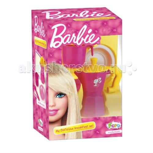Faro Подарочный набор для чаепития BarbieПодарочный набор для чаепития BarbieFaro Подарочный набор для чаепития Barbie - наверное, каждая девочка хоть раз в жизни мечтала выпить чай из специального чайника с дизайном в стиле Барби. Мечты сбываются — итальянский лидер рынка по сюжетно-ролевым играм, компания Faro, выпустила подарочный набор для чаепития.   В разноцветной коробочке вы найдете симпатичный розовый чайник, стаканчик, тарелочку и ложку. Осталось только дождаться, когда мама испечет вкусный пирог, и можно наслаждаться горячим чаем! Угости своих друзей любимым напитком, ведь в красивую емкость можно налить также какао или молоко, а можно вкусную воду.   Набор сделан из высококачественных материалов, которые не выгорают на солнце и совершенно безопасны для здоровья малышей. Дополните его другими наборами игрушек Faro, и пусть ваш ребенок с детства учится гостеприимности.   Возраст: от 3 лет.   Размер в собранном виде: 11,5x6,5x12 см.<br>
