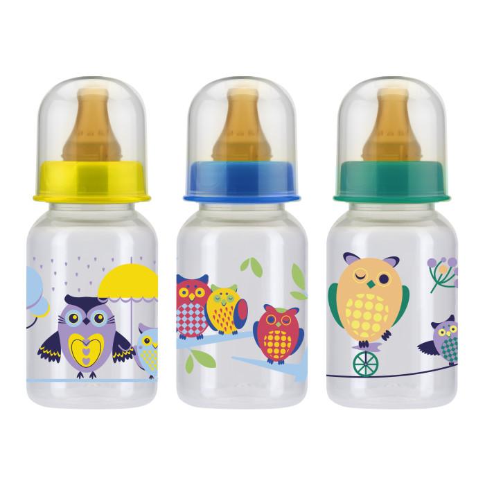 Бутылочка Курносики пластик латексная соска 125 мл