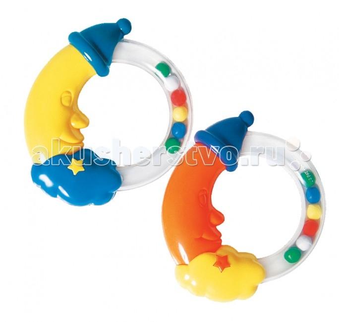 Погремушка Курносики МесяцМесяцИгрушка развивает слух, воображение, концентрацию внимания, цветовое восприятие, контролируемые хватательные движения.   Очень удобна для детских ручек.  Рекомендуемый возраст: 3 мес.+ Материал: пластик  Цвета в ассортименте.<br>