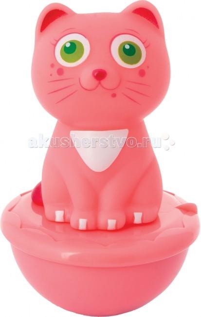 Развивающая игрушка Курносики Неваляшка Мяу-мяуНеваляшка Мяу-мяуВыполнена из мягкого материала, имеет надежное пластиковое основание.   Благодаря компактному размеру малыш может взять любимую игрушку с собой на прогулку или в детский сад.  Рекомендуемый возраст: 6 мес.+ Материал: ПВХ<br>
