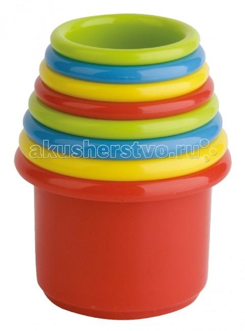 Развивающая игрушка Курносики Пирамидка Веселая радугаПирамидка Веселая радугаС этой игрушкой малыш не соскучится - можно построить куличики в песочнице, собрать высокую пирамидку или даже поиграть в воде!   Игрушка развивает воображение, концентрацию внимания, цветовое восприятие, контролируемые хватательные движения.  Рекомендуемый возраст: 3 мес.+ Материал: пластик<br>