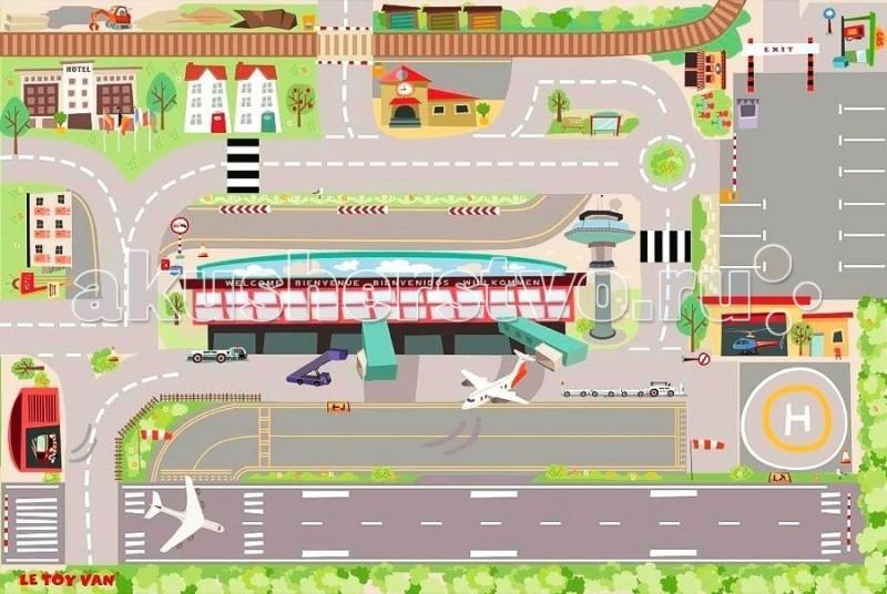Игровой коврик LeToyVan Аэропорт 120x80 см
