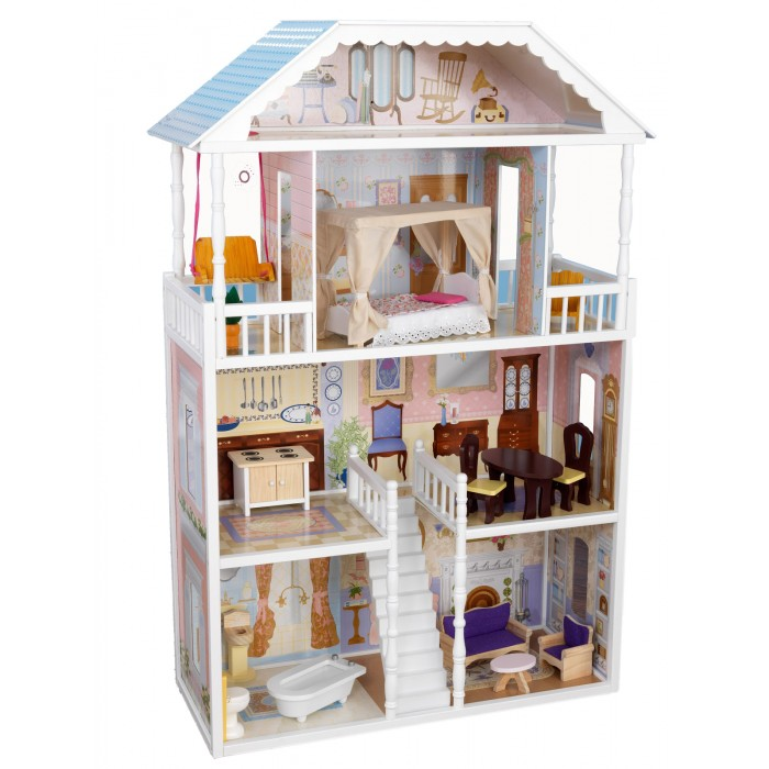 KidKraft Кукольный домик Саванна с мебелью 14 элементов