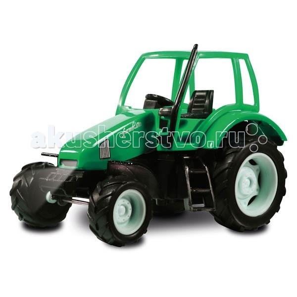 Технопарк ТракторТракторТехнопарк Трактор 1:32 обладает высокой реалистичностью за счет инерционного механизма, звука и света. Настоящая радость для ребенка, особенно если он неравнодушен к технике.<br>