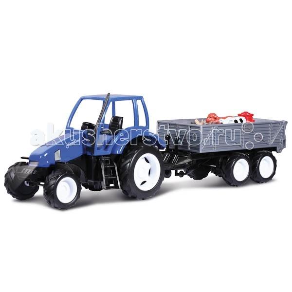 Технопарк Трактор с прицепомТрактор с прицепомТехнопарк Трактор с прицепом обладает высокой реалистичностью за счет звуковых и световых эффектов.   Особенности: Машина снабжена инерционным механизмом, что позволяет ей ускоряться вперед. Настоящая радость для ребенка, особенно если он неравнодушен к технике. К модели трактора предусмотрен прицеп, на котором помещены фигурки животных.<br>