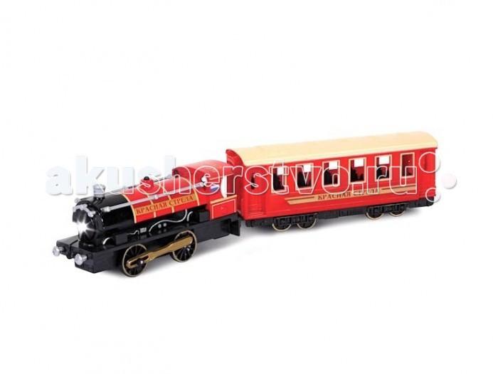Технопарк Поезд с вагономПоезд с вагономТехнопарк Поезд с вагоном 1:43 оснащен инерционным механизмом, имеет световые и звуковые эффекты.   С таким реалистичным поездом каждый мальчишка сможет почувствовать себя настоящим машинистом.   Такой красивый подарок, несомненно, обрадует вашего малыша.  Размеры: 36х5х14 см<br>