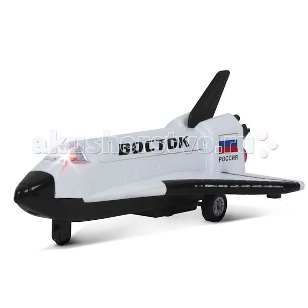 Технопарк ШатлШатлТехнопарк Шатл 1:32 обладает инерционным механизмом, световыми и звуковыми эффектами.   Этот транспортный космический корабль доставит груз в любую точку Вселенной!   Размеры: 21х14х9 см<br>