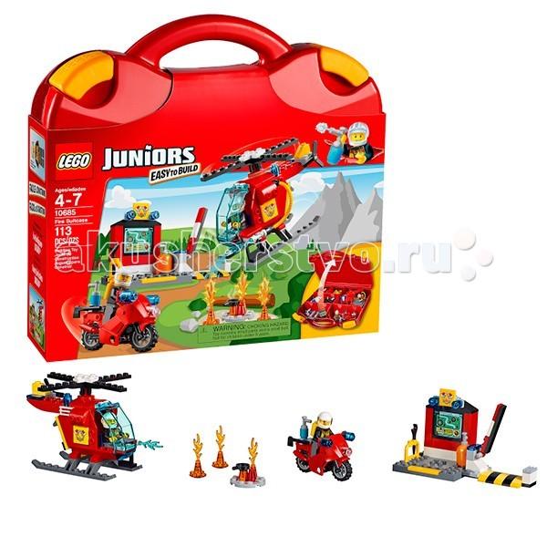Конструктор Lego Juniors 10685 Лего Джуниорс Чемоданчик Пожар