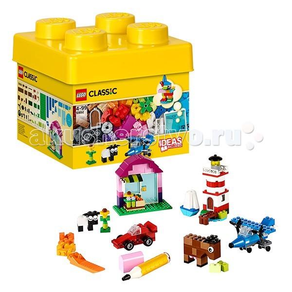 Конструктор Lego Classic 10692 Лего Классик Набор для творчестваClassic 10692 Лего Классик Набор для творчестваКонструктор Lego Classic 10692 Лего Классик Набор для творчества  Включайте воображение и окунитесь в мир фантазий с набором кубиков LEGO! Бесконечные возможности для сборки из классических кубиков 29 разных цветов и специальных деталей: двери, окна, колеса, глаза, пропеллеры и отделитель кубиков.   Если вы не знаете, с чего начать, вам помогут инструкции с идеями дизайнеров, от которых можно оттолкнуться. Это идеальный набор для начинающих строителей всех возрастов. Он также дополнит любую имеющуюся коллекцию LEGO.  Возможность собрать то, что придумал сам! 29 цветов деталей и различные элементы.  Инструкции дизайнеров для оригинальных конструкций. Возможность дополнить любую имеющуюся коллекцию LEGO.  Количество деталей: 221 шт.<br>