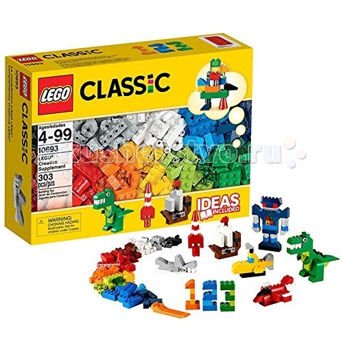 Конструктор Lego Classic 10692 Лего Классик Дополнение к набору для творчества Яркие цветаClassic 10692 Лего Классик Дополнение к набору для творчества Яркие цветаКонструктор Lego Classic 10693 Лего Классик Дополнение к набору для творчества Яркие цвета  Включи фантазию и собери то, что придет в голову - от техники до животных! Набор включает в себя кубики 20 ярких цветов и различные элементы. Не знаете с чего начать? Воспользуйтесь инструкцией с идеями и рекомендациями дизайнеров. Этот набор идеально дополнит уже имеющийся, либо любой другой набор LEGO.  Возможность собрать то, что придумал сам! 20 цветов деталей и различные элементы.  Инструкции дизайнеров для оригинальных конструкций. Возможность дополнить любую имеющуюся коллекцию LEGO.  Количество деталей: 303 шт.<br>