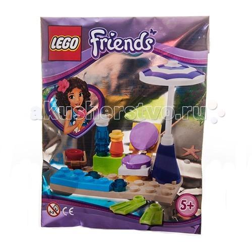 Конструктор Lego Friends 561408 Лего Подружки Пляжный наборFriends 561408 Лего Подружки Пляжный наборКонструктор Lego Friends 561408 Лего Подружки Пляжный набор  В набор конструктора из серии Friends от LEGO входит 27 деталей из которых можно собрать всё самое необходимое для отдыха на пляже.  На прекрасном чистом жёлтом песочке стоит шезлонг и зонт, защищающий от солнца. На небольшом столике рядом крем от загара и бутылочка холодной воды. Используя ведёрко можно строить замки из песка или пойти поплавать с ластами, благо море совсем рядом!  Аксессуары для пляжного отдыха. Удобная и практичная упаковка.  Количество деталей: 221 шт.<br>