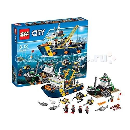Конструктор Lego City 60095 Лего Город Корабль исследователей морских глубин