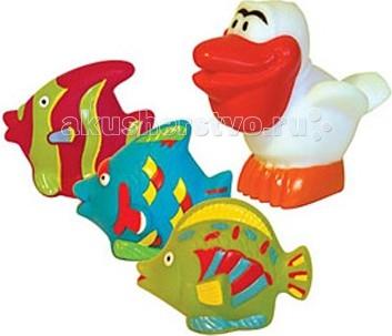 ПОМА Набор для ванны Пеликан и компанияНабор для ванны Пеликан и компанияНабор для ванны Пеликан и компания  Занимательные игрушки для игры в воде. Развивают координацию движений. Знакомят малыша с окружающим миром.  Мягкие на ощупь. Брызгают водой и не тонут.  Рекомендуемый возраст: от 12 месяцев Материал: ПВХ  ПОМА® непрерывно совершенствует свою продукцию, делая ее еще более удобной, функциональной и привлекательной, расширяет ассортимент выпускаемой продукции. Постоянное общение с родителями, педиатрами и детскими психологами помогает создавать оптимальный для российского потребителя ассортимент. ПОМА® — это удобно, доступно, безопасно, красиво и понятно.<br>