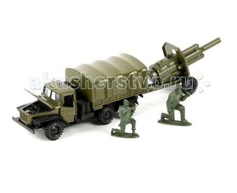 Технопарк Машина Урал военный с пушкой