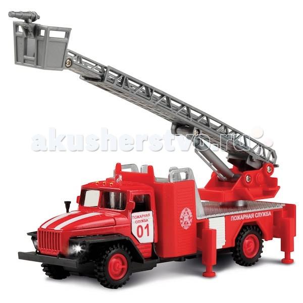 Технопарк Урал Пожарная машинаУрал Пожарная машинаТехнопарк Урал Пожарная машина 1:43 сделана по аналогии настоящей машины. Пожарная машина со световым и звуковым эффектом, у нее открываются двери и капот.<br>