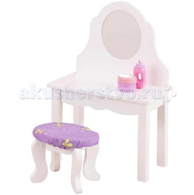 KidKraft Мебель для кукол Туалетный столик с банкеткой