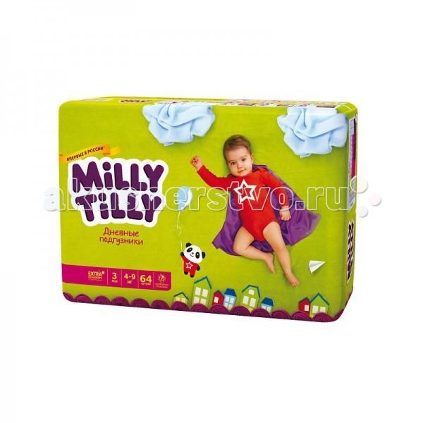 Milly Tilly Дневные подгузники Миди 3 4-9кг 64 шт.