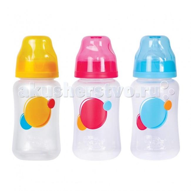 Бутылочка ПОМА полипропилен силик. соска с широким горлом 6+ 300 мл