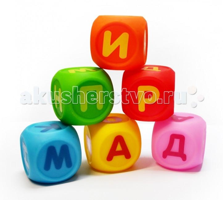 ПОМА Набор кубиков Учим буквы 6 шт.
