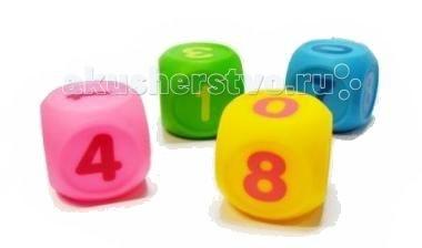 ПОМА Набор кубиков Учим цифры 4 шт.