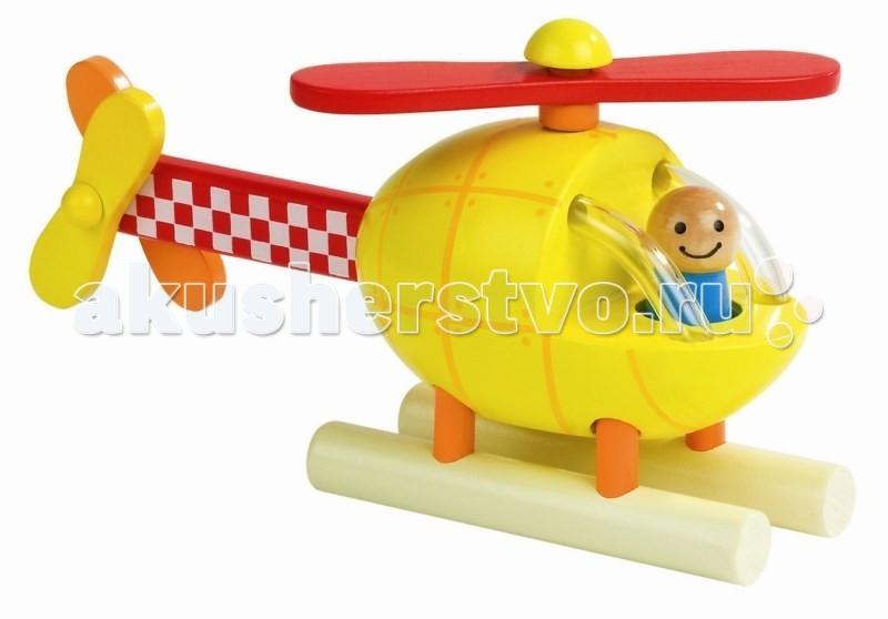 Конструктор Janod магнитный Вертолетмагнитный ВертолетJanod Конструктор магнитный Вертолет.  Игрушка состоит из 5 деревянных элементов. Все части вертолета соединяются друг с другом при помощи магнитов. Корпус вертолета желтого цвета, на него нанесен рисунок, имитирующий обшивку с заклепками. Спереди кабина с двумя оранжевыми ограничителями по бокам. Внутри фигурка пилота. Снизу устанавливаются две длинные ножки, которые обеспечивают устойчивость. Сверху ярко-красный пропеллер с оранжевым цилиндром и желтой заклепкой. Сзади устанавливается хвост красного цвета в белую шашечку. Он оборудован двумя пропеллерами - один желтый, а другой - оранжевый.  Производитель, французская компания Janod, позаботился о том, что бы сделать эту игрушку максимально привлекательной и безопасной для детей. Яркие цвета, оригинальный французский дизайн, гладкие, приятные на ощупь поверхности. Набор упакован в подарочную коробку. Описание товара: вертолет-конструктор из 5 деревянных блоков все элементы соединяются друг с другом при помощи магнитов размер собранной игрушки 19,5х6х10 см гладкие, приятные на ощупь поверхности оригинальный французский дизайн набор предназначен для детей от 1,5 лет красивая подарочная коробка.<br>