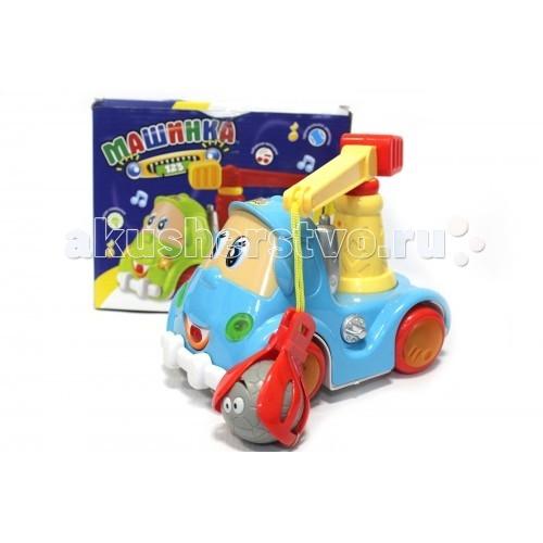 Zhorya Машина-строительнаяМашина-строительнаяZhorya Машина-строительная с музыкой и песенками.  Машина на батарейках, светящиеся колёсики, произвольное движение.   Открываются и двигаются глазки и ротик, играет веселая мелодия.  Может зажимать и перевозить шарик.<br>