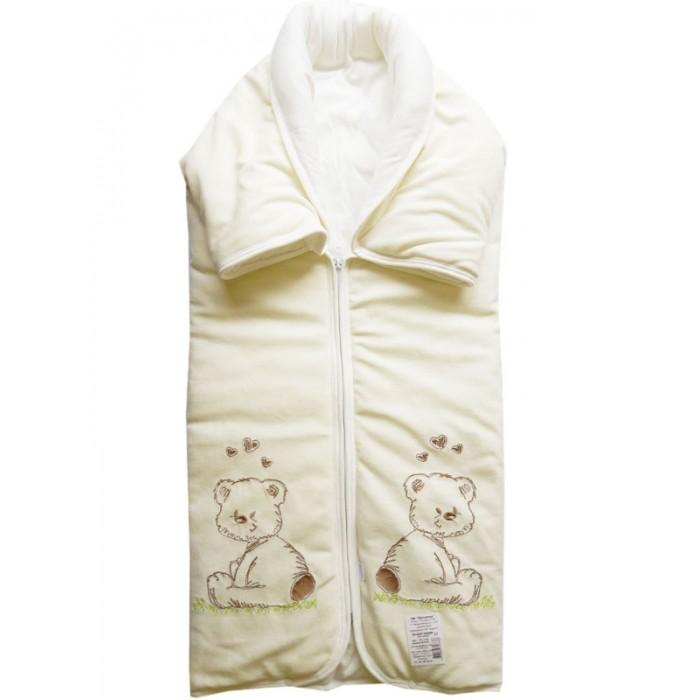 Папитто Конверт-одеяло на молнии с вышивкой 82х92 от Акушерство