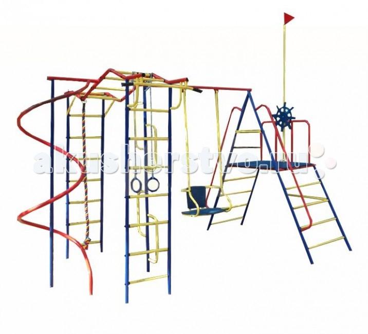 Пионер Детский спортивный комплекс Юнга со спиральюДетский спортивный комплекс Юнга со спиральюЕсли вы хотите быть спокойны за своих деток, уделяете внимание их физическому развитию, то приобретая им на радость детский спортивный комплекс для улицы и дачи, вы тем самым делаете инвестиции в их здоровье. Установленный в вашем дворе или на даче детский спортивный комплекс , сочетающий в себе элементы игры и спорта, станет излюбленным местом для весёлых игр и соревнований детворы. Играя в своё удовольствие на свежем воздухе, дети развиваются физически.   Изготавливаются детские уличные спортивные комплексы из экологичных материалов, при их производстве используется нержавеющая сталь, они устойчивы к атмосферным осадкам и перепадам температуры и рассчитаны на длительную эксплуатацию. Все модели детских спортивных комплексов для улицы и дачи сертифицированы и безопасны.   Шикарный дачный спортивный комплекс, оснащенный канатом, кольцами, качелями и спиралью, которая очень нравится детям. Такой комплекс развлечет Ваших детей и позволит всегда оставаться в отличной спортивной форме.  Крепление: цементируются «стаканы», в которые устанавливаются стойки ДСК Высота дачного комплекса: 2.20 м Занимаемая площадь: 4.07 х 2.30 м Допустимая нагрузка: 100 кг Комплектация дачного комплекса: канат, кольца, качели, спираль<br>