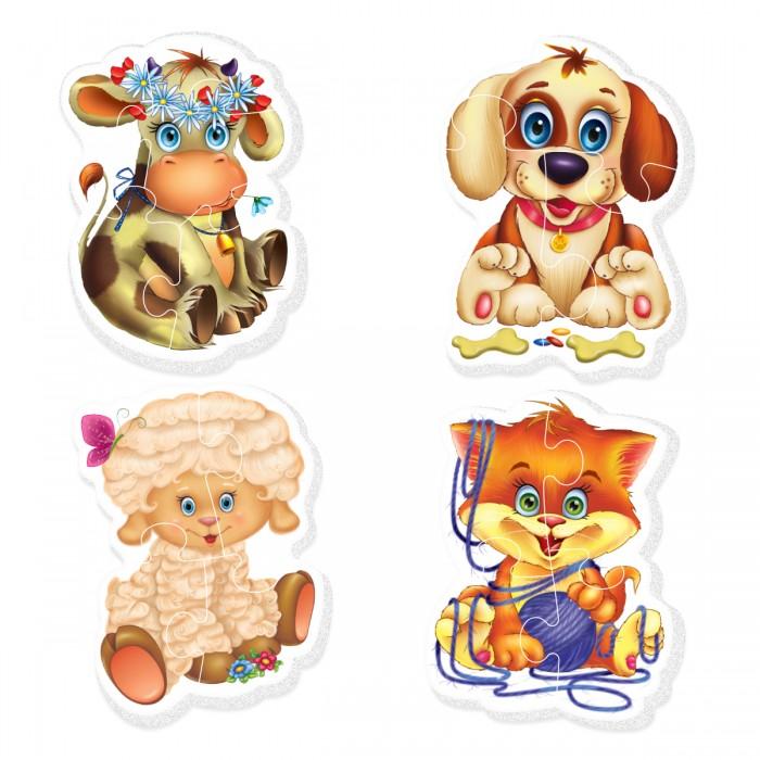 Vladi toys Baby Puzzle Домашние любимцыBaby Puzzle Домашние любимцыVladi Toys Baby Puzzle Домашние любимцы - красочные пазлы для самых маленьких.   Набор из 4-х крупных пазлов баранчика, петушка, кота и собаки. Каждый пазл состоит из 3-5 деталей. Красочные, большие и приятные на ощупь мягкие пазлы Домашние любимцы не оставят равнодушным не одного малыша.   Пазлы развивают мелкую моторику, память, логическое мышление, умение сопоставлять части единого целого. Крупные детали позволяют малышу самому собирать фигуры, а яркие и красочные картинки делают игру увлекательной.<br>
