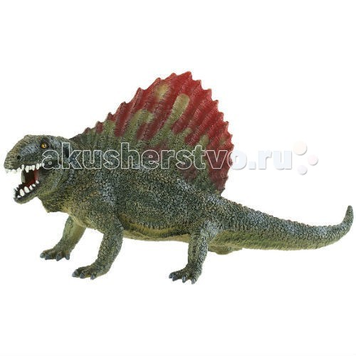 Bullyland Динозавр Диметродон 33 смДинозавр Диметродон 33 смBullyland Динозавр Диметродон 33 см. - фигурка динозавра Диметродона из серии Доисторическая фауна. Удивительное существо, похожее на варана с «парусом» на спине.   Это довольно крупное существо, длиной около четырех метров. Хищник без особенной избирательности в еде. Кушал все, что попадалось. Фигурка Диметродона хорошо передает особенности строения и внешности животного. Уменьшенная копия динозавра может дополнить вашу коллекцию Доисторической фауны.   Теперь дети могут не только увидеть, но и реально осязать маленького динозаврика. Игрушка выполнена из высококачественных, нетоксичных материалов и безопасна для детей.   Размер: 178 х 92 х 90 мм.<br>