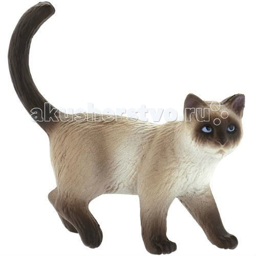 Bullyland Фигурка Сиамский кот 7 смФигурка Сиамский кот 7 смBullyland Фигурка Сиамский кот 7 см. - красивые, грациозные кошки узнаваемого окраса. Породе свойственны активность, любовь к людям, общительность. Сиамские кошки обожают быть в центре внимания, очень доверчивы и ласковы. Их голос имеет много разных интонаций, много мяукают. Фигурка сиамской кошки удивительно похожа на настоящую.   Такая игрушка станет большой радостью для ребенка. Являясь точной копией оригинала, отлично передает характер кошки. Коллекционная фигурка, расписанная вручную.   Выполненная из высококачественных, нетоксичных материалов игрушка абсолютно безопасна для детей.   Размер: 71 х 23 х 65 мм.<br>