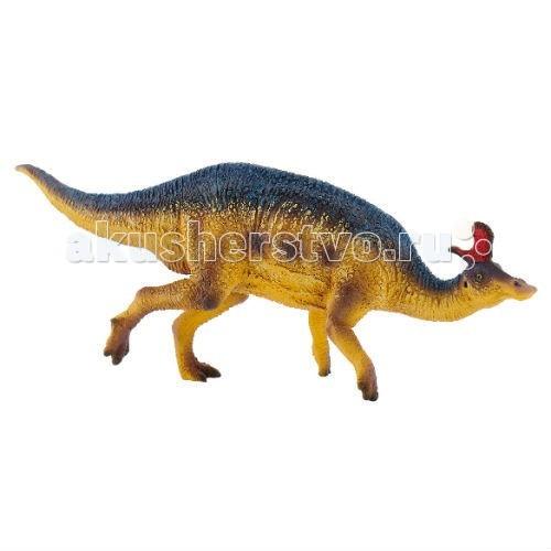 Bullyland Фигурка ЛамбеозаврФигурка ЛамбеозаврBullyland Фигурка Ламбеозавр - из серии Доисторический мир от бренда Bullyland изображает динозавра, жившего за много миллионов лет до появления людей. Его главная особенность – необычная форма черепа, носовые кости образуют большой полый внутри гребень, соединенный с ноздрями. Ламбеозавр исполнен очень детально и реалистично, потому что при его создании компании помогали ганноверский зоопарк и Музей Естествознания в Штутгарте. Таким образом, динозавр может стать не только игрушкой, но и толчком к развитию у ребенка страсти к науке.  Фигурка выолнена из высококачественного синтетического каучука, нетоксичного, и безвредного для здоровья.  Рекомендуемый возраст: от 3 лет.  Длина фигурки: 20см<br>