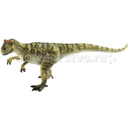 Bullyland Фигурка Аллозавр 29,5 смФигурка Аллозавр 29,5 смBullyland Фигурка Аллозавр 29,5 см. - фигурка динозавра из серии Доисторическая фауна. Большой, достигавший 9 метров в высоту, хищный динозавр. Весьма распространенный вид. Фигурка динозавра Аллозавра хорошо передает особенности строения и внешности животного. Уменьшенная копия позволяет увидеть не плоского, на картинке, а объемного, с видимым изгибом тела, рельефом мышц, животного.   Игрушки-фигурки стимулируют развитие творческого воображения и понятийного аппарата у детей. Фигурка выполнена из высококачественных, нетоксичных материалов и безопасна для детей.   Размер: 295 х 100 х 102 мм<br>