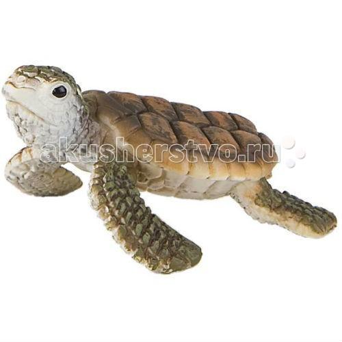 Bullyland Фигурка Морская черепашка 6,5 смФигурка Морская черепашка 6,5 смBullyland Фигурка Морская черепашка 6,5 см. - очень красивое животное с большим панцирем и ластами. Морская черепаха прекрасно ориентируется в пространстве, даже через много лет она может вернуться на место своего рождения. Черепашки откладывают яйца и засыпают их песком, на этом их забота о потомстве заканчивается. К сожалению, в этой ситуации природа безжалостна, большая часть молодняка погибает почти сразу после рождения. Фигурка морской черепашки очень мила, хорошо передает внешность реального животного. Фигурка является символом процветания и долголетия, хороший подарок, амулет. Игрушка сделана из высококачественных, нетоксичных материалов и абсолютно безопасна для детей.   Размер: 60 х 66 х 33 мм.<br>