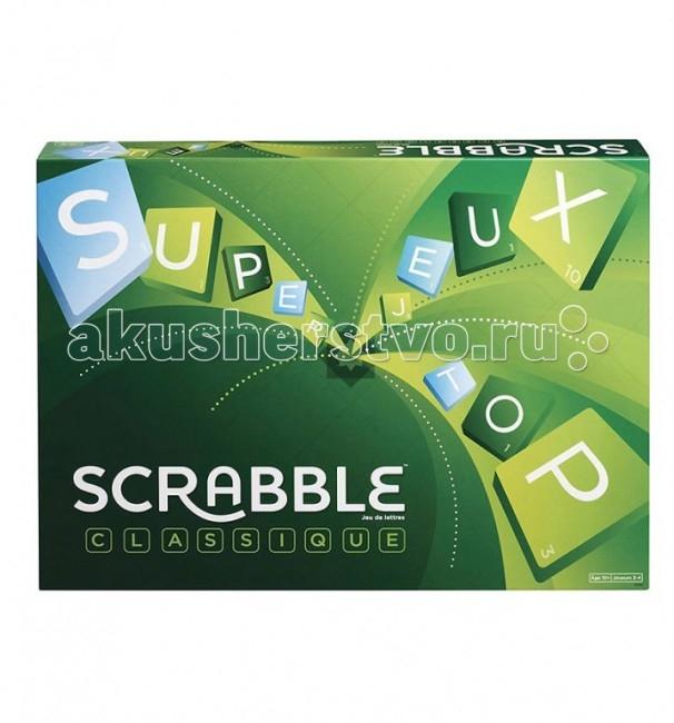 Scrabble Mattel Настольная игра Scrabble классическийMattel Настольная игра Scrabble классическийMattel Настольная игра Scrabble классический — игра-кроссворд для 2-4 игроков. Она идеально подходит для проведения досуга в кругу семьи или друзей и может стать отличным подарком для людей разных возрастов.  Особенности: Игра состоит в формировании взаимосвязанных слов по принципу кроссворда. Слова составляются на игровой доске с использованием алфавитных косточек, имеющих различную ценность в очках.  Каждый игрок стремится набрать наибольшее количество очков, создавая такие комбинации и расположения, в которых он использует косточки с наибольшей ценностью и покрывает премиальные клетки. Игра на русском языке. Уникальность и ценность Скрэббл состоит в том, что он несет в себе энергетику групповой игры, радость живого общения, сближает людей, одновременно развивая их интеллектуальные способности, обучая языку и логическому и творческому мышлению. Игра способствует развитию дружеских взаимоотношений между людьми, объединяет. Скрэббл одинаково интересен и молодежи, и более старшему поколению.  В комплект входят: игровое поле 104 фишки букв с обозначением очков мешочек для фишек, который позволяет перемешивать и доставать их по принципу лото подставки для букв комплект правил<br>