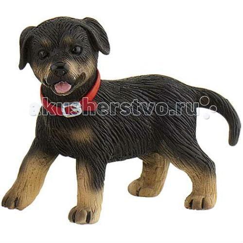 Bullyland Фигурка Щенок ротвейлер 5,6 смФигурка Щенок ротвейлер 5,6 смBullyland Фигурка Щенок ротвейлер 5,6 см. - настоящие защитники, серьезные и мужественные. Собака привязана к хозяину, она энергична и сильна. Довольно крупная и развитая, собака обладает сильным характером и характерным окрасом.   Любите ее, и она ответит вам взаимностью. Фигурка щенка ротвейлера может стать настоящим другом и защитником ребенка, пусть даже только в игре. Точная копия оригинала, фигурка отлично передает внешность и характер породы. Соберите все фигурки серии Собаки, и вы сможете получить коллекцию всех известных пород.   Игрушка способствует познанию окружающего мира и развитию воображения и фантазии у детей. Фигурка из серии коллекционных, расписана вручную. Игрушка выполнена из высококачественных, нетоксичных материалов и абсолютно безопасна для детей.   Размер: 59 х 34 х 50 мм.<br>