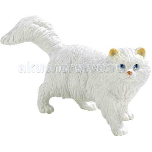 Bullyland Фигурка Персидская кошка белая 8 смФигурка Персидская кошка белая 8 смBullyland Фигурка Персидская кошка белая 8 см. - элегантная красавица персидская кошка приспособлена к жизни только в домашних условиях. Очень ласковая и доверчивая, кошка любит своих хозяев, спокойно относится к детям. Длинная густая шерсть животного требует постоянного ухода.   Фигурка персидской кошки удивительно похожа на настоящую. Порода имеет узнаваемый окрас и внешность. Такая игрушка станет большой радостью для ребенка. Являясь точной копией оригинала, отлично передает характер кошки. Коллекционная фигурка, расписанная вручную.   Выполненная из высококачественных, нетоксичных материалов игрушка абсолютно безопасна для детей.   Размер: 82 х 30 х 55 мм.<br>