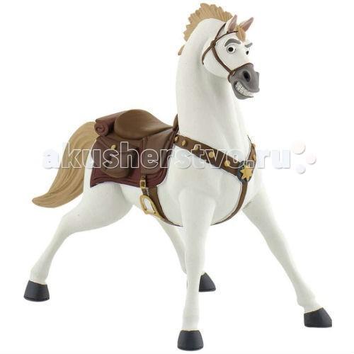 Bullyland Конь Максимус 9,5 смКонь Максимус 9,5 смBullyland Максимус 9,5 см. - фигурка коня Максимуса из мультфильма Уолта Диснея Рапунцель. Конь королевской гвардии, храбрый и своенравный, стремительно идущий к своей цели. Повстречав Рапунцель, он был потрясен ее историей и стал ей другом. Именно Максимус, гениальный стратег и бесстрашный вояка, спас от гибели юную принцессу и ее спутника. Белоснежный красавец Максимус в сбруе и со звездой на мощной груди обязательно понравится детям.   С фигуркой коня можно разыграть различные сюжеты из мультфильма, или придумать их самим.   Игрушка выполнена из высококачественных нетоксичных материалов, безопасна для детей.   Размер: 9,5см.<br>