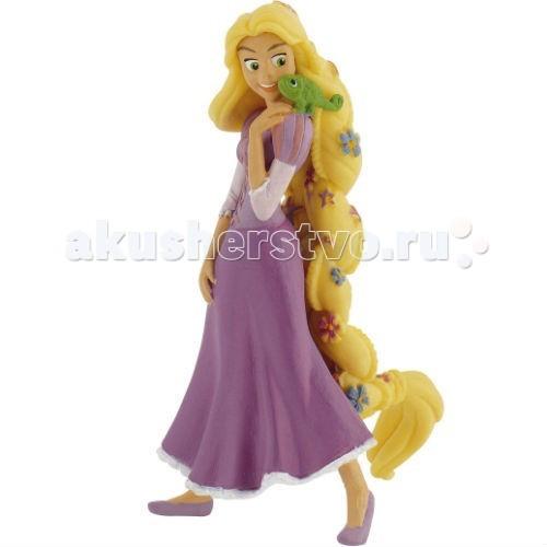 Bullyland Рапунцель с цветами 10 смРапунцель с цветами 10 смBullyland Рапунцель с цветами 10 см. - фигурка Рапунцель и хамелеона Паскаля из мультфильма Рапунцель. С самого рождения принцесса Рапунцель была наделена необычным даром. Ее великолепные, золотые волосы обладали чудодейственными и целительными свойствами.   Заточенная в башне злой колдуньей юная девушка не знала ничего об окружающей жизни. И только верный друг, хамелеон Паскаль, всегда был рядом. К сожалению, говорить он не умел. Фигурка принцессы в нежно-сиреневом платье с длинными, переплетенными душистыми цветами волосами обязательно понравится юным поклонницам Рапунцели.   На плече у девушки сидит верный друг и советчик, хамелеон Паскаль.   Игрушка выполнена из высококачественных нетоксичных материалов, безопасна для детей.  Размер: 10 см.<br>