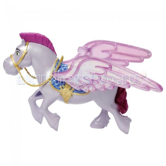 Sofia the First Mattel Игрушка Летающий конь МинимусMattel Игрушка Летающий конь МинимусMattel Игрушка Sofia the Firs Летающий конь Минимус готов катать маленькую принцессу, он уже оседлан и нетерпеливо машет крыльями! Крылья Минимуса действительно могут подниматься и опускаться, для этого не нужны батарейки, достаточно просто подвигать его в игре. К седлу коня присоединяется крепление, с помощью которого на нем сможет держаться кукла принцесса София (в комплект не входит).  Минимус выглядит так, словно только что сошел с экрана, он неотличим от персонажа мультфильма и поможет всем юным поклонницам Софии прекрасной воссоздавать в играх любимые сцены из мультика!<br>