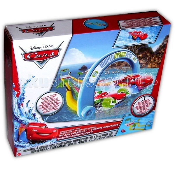 Mattel Набор для игры в ванной Тачки 2