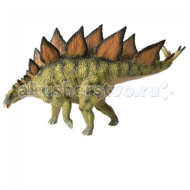 Bullyland Фигурка динозавр Стегозавр 22,5 смФигурка динозавр Стегозавр 22,5 смBullyland Фигурка динозавр Стегозавр 22,5 см. - фигурка динозавра Стегозавра из серии Доисторическая фауна. Очень интересный доисторический персонаж. Динозавр имеет огромное, неповоротливое тело и маленькую головку. Его изогнутый вверх позвоночник покрыт рядом чешуйчатых пластин, что делает этот вид узнаваемым. Имея рост около 9 метров и вес в 4,5 тонны, стегозавр питался травой и листьями, легко становился добычей для хищников.   Собирая коллекцию животных из серии Доисторическая фауна, вы приобретает не только игрушку для ребенка, но и уменьшенную в масштабе историческую копию вымершего персонажа.   Фигурка выполнена из высококачественных, нетоксичных материалов и безопасна для детей.   Размер: 225 х 72 х 120 мм.<br>