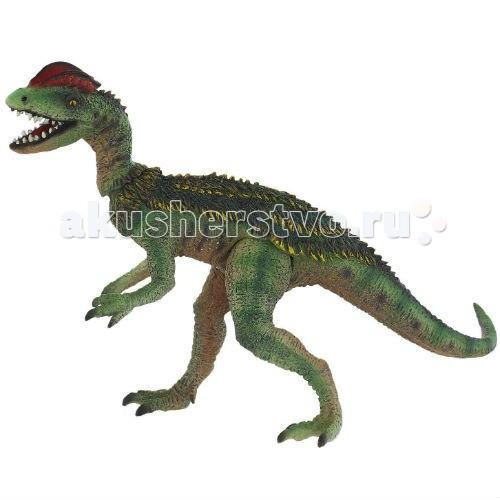 Bullyland Фигурка динозавр Дилофозавр с подвижной головой и лапами 18 смФигурка динозавр Дилофозавр с подвижной головой и лапами 18 смBullyland Фигурка динозавр Дилофозавр с подвижной головой и лапами 18 см. - фигурка динозавра Дилофозавра из серии «Доисторическая фауна». Очень интересное животное. Дилофозавр достигал 6 метров в высоту и весил около полутонны. Задние ноги длинные, а передние короткие.   Дилофозавр относился к хищникам, но питался, в основном, падалью или некрупной добычей. Фигурка животного позволяет детально изучить строение тела и пропорции ящера. Игрушки-фигурки животных стимулируют развитие творческого воображения и понятийного аппарата у детей.   Фигурка выполнена из высококачественных, нетоксичных материалов и безопасна для детей.   У динозавра подвижные голова и ноги.  Размер: 180 x 83 x 125 мм.<br>